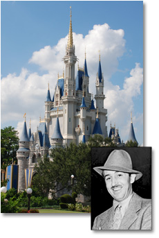 Walt Disney and Sleeping Beauty Castle