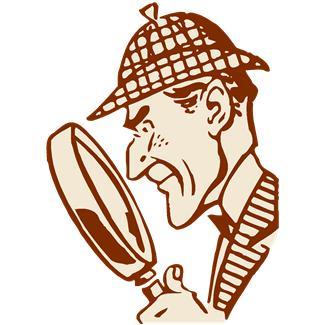 Cartoon illustration of a detective
