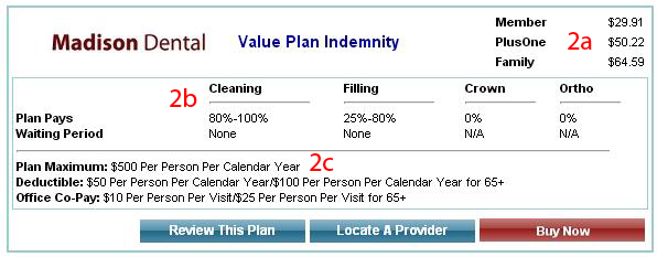 Madison Dental Value Plan Indemnity